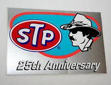 2 Vintage Nascar STP Racing Oil Richard Petty 25th Anniversary Sticker New NOS