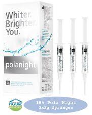 Teeth Whitening/Bleaching Syringes - (18% Polanight -3x3g Syringes) FREE Bonuses
