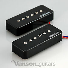NEW Wilkinson Bridge and Neck P90 Soapbar Pickup SET / Soap Bar / Black