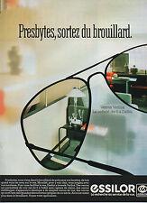 Publicité Advertising  1984 ESSILOR verres Varilux lunette vue monture optique