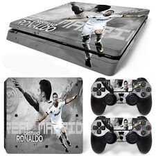 PS4 Slim Console and DualShock 4 Controller Skin Set - Soccer CR7
