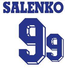 Salenko #9 Russia World Cup 1994 Away Football Nameset for shirt
