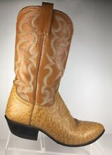 Cowtown Cowgirl Ostrich Skin Boots Womens Tan Pointy toe Western Cowboy 5.5 A