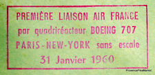 1960 PARIS NEW YORK SANS ESCALE   Airmail Aviation premier vol AC40