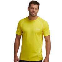 Regatta T-Shirt Hommes GUIMARAES Léger Gym Sport de course randonnée jaune vif