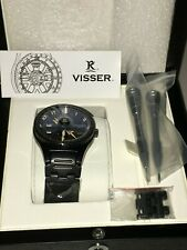 VISSER BLACK DIAMOND **NEW** MENS WATCH