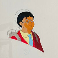 The Real Ghostbusters 1986-1991 Production Animation Asian School Boy Cel DIC