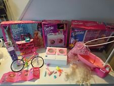 Vintage Barbie 1993-1995 Furniture, Accessories with Rare Washing Machine Boxed
