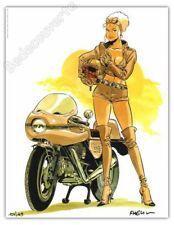 Ex-libris MEYNET Mirabelle 2012 Moto Ducati 169ex signé 21x27 cm