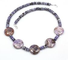 Natural Rare Sugilite Necklace 925 Sterling Silver Beads Ct 194 Birthday Gift Us
