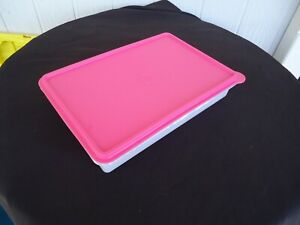 TUPPERWARE SNACK-STOR LARGE RECTANGLE CONTAINER  #5346A-1 pink slice