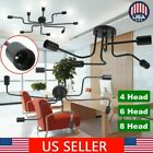 4/6/8 Head Industrial Vintage Flush Mount Ceiling Light E27 Holder Pendant Lamp