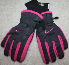 New! Girls Nike Ski Gloves (Snow; Winter; Black/Pink) - Size Youth 8-10-12-14-16