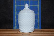 Milk Glass Marmalade Jar/ Condiment Jar - Westmoreland English Hobnail -
