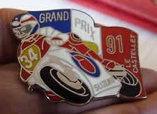 RARE BEAU PIN'S MOTO GP 500 SUZUKI GRAND PRIX DE FRANCE 91 LE CASTELLET ZAMAC