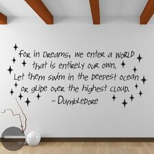 Wall Stickers Harry Potter For In Dreams We Enter world vinyl decal decor Nurser