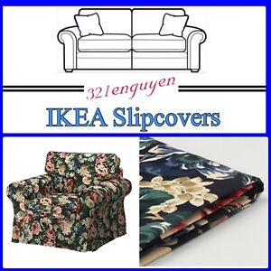 IKEA EKTORP Chair Slipcover Cover Lingbo Multicolor Floral 204.028.93 - NEW