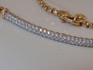"$2950 DAVID YURMAN 18K ROSE GOLD DIAMOND BOX CHAIN BRACELET 7"""