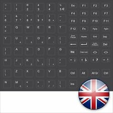 TASTATURAUFKLEBER DUNKELGRAU DARKGREY KEYBOARD STICKERS ENGLISH ENGLISCH DELL
