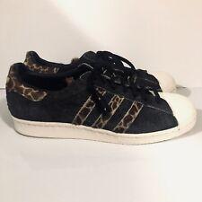 9e86738f6a72 Adidas Leopard Print Sneakers Cheetah Animal Mens Black Dark Gray Size 10  Shoes