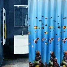 Rideaux de douche bleus