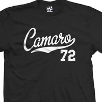 Camaro 72 Script Tail Shirt - 1972 Classic Muscle Race Car - All Size & Colors