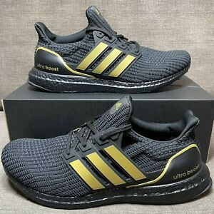 NEW Men's Adidas Ultraboost 4.0 DNA   Black Gold   Size 11   GY8542 NWB