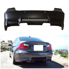 E90 M3 STYLE REAR BUMPER FOR BMW 3 SERIES 335 2006-11 QUAD TWIN EXHAUST NO PDC