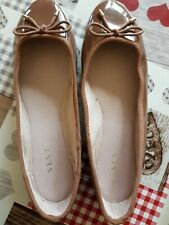 Next Taupe/Tan Ballerina Shoes Size 7w