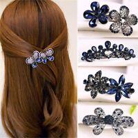 Crystal Women Rhinestone Bow Knot Barrette Butterfly Hair Clip Flowers Hairpin