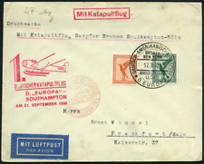 1. Deutscher Katapultflug Dampfer Europa  Southhampton - Köln