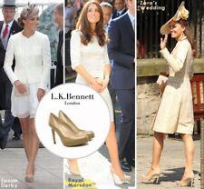 L.K. Bennett SLEDGE PATENT HEEL Pumps 40 Kate Middleton Metallic Green