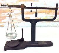 Antique Central Scientific CENCO Triple Beam Cast Iron Scale Brass Components