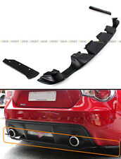 For 2013-16 Scion FRS / BRZ Rear Bumper Lower Diffuser+ 2 Pc Add-on Side Aprons