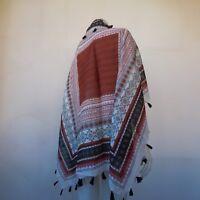 Foulard carré 100 % coton Bocage vintage véritable nouvelle vague