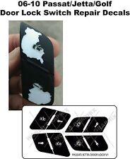 VW Door Lock Button Decals Stickers JETTA GOLF PASSAT 2006-2010