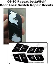 Volkswagen Door Lock Button Decals Stickers JETTA GOLF PASSAT 06-10