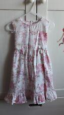 Topo Sommerkleid weiß pink blau Blumenmotiv Gr. 104 super zuckersüß !