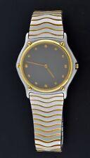 Ebel Classic Wave 36mm 18k Gold Bezel Stainless Steel Quartz Men's Watch 181903