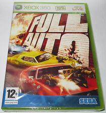NEU Versiegelt Xbox 360-Full Auto! französische Version Sega Spiel Racing Shooting Car