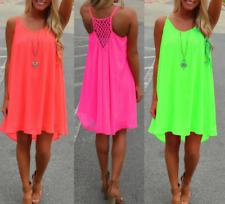 Plus Size Women Summer Casual Sleeveless Party Evening Cocktail Short Mini Dress