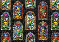 FAT QUARTER FABRIC  NINTENDO THE LEGEND OF ZELDA  STAINED GLASS 100% COTTON  FQ