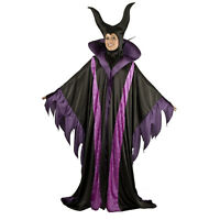 Adult Women's Villain Maleficent Magnificent Witch Horns Costume Robe Headpiece