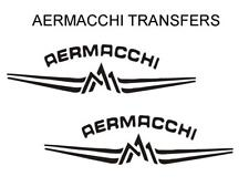 Aermacchi Tank Transfers Decals Motorcycle Sold as a Pair Black D141