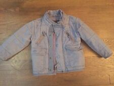 Stella McCartney GAP kids boy blue jeans jacket insulated quilted EUC 2T /2 year