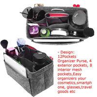 Felt Insert Purse Handbag Cosmetic Organizer Travel Storage Bathroom Felt Insert