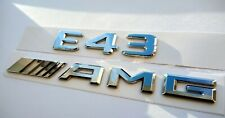 Mercedes E43 AMG chrome embleme