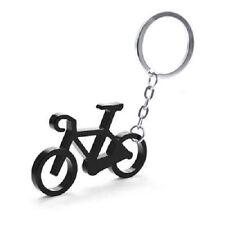 Aluminium Alloy Bike Bicycle Shaped Keyring Key - Black Blue Red Silver .