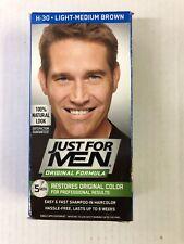 JUST FOR MEN Original Formula Hair Color Light-Medium Brown H-30, 1 Ct, NIB