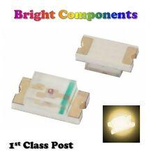 10 x 0603 Warm White LED (SMD) - Ultra Bright  - UK - 1st CLASS POST
